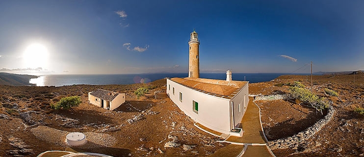 Lighthouse Moudari Kithira Island Panorama