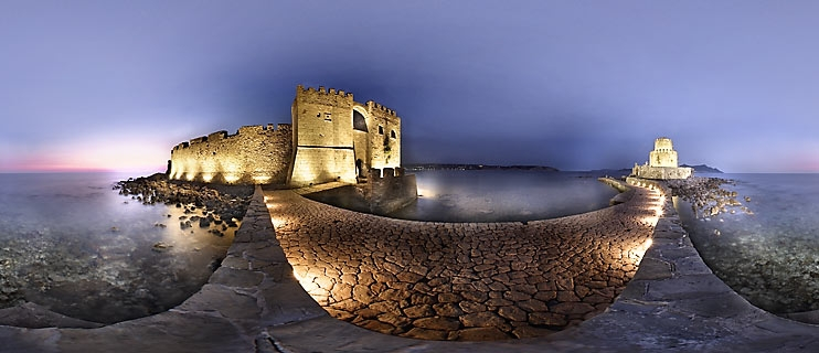 Methoni Castle Messenia Panorama