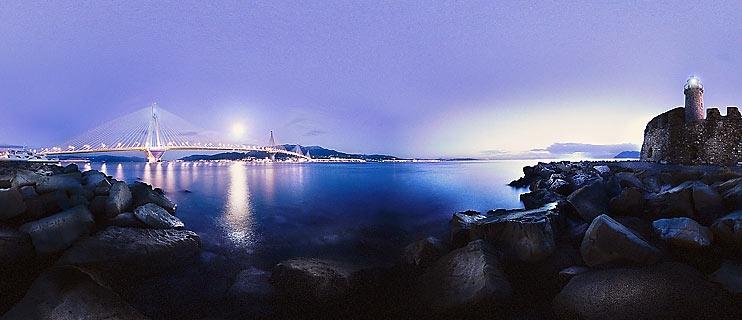 Rio Antirio bridge Panorama