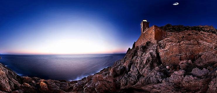 Cape Maleas Lakonia Greece Panorama