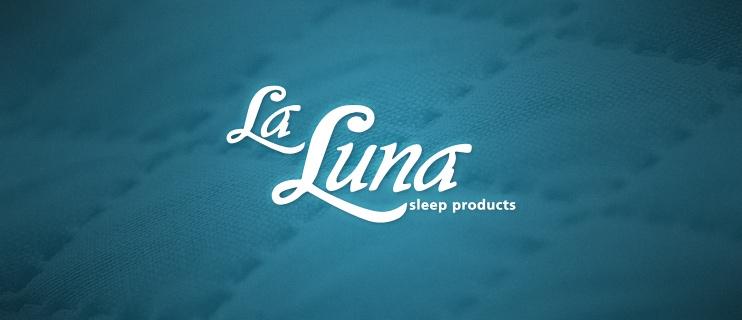 La Luna, logo, website, pillows, sleep products