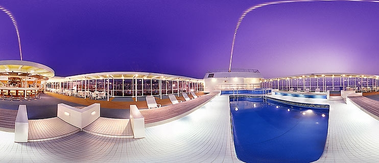 Nightfall on a Superfast Ferry Panorama