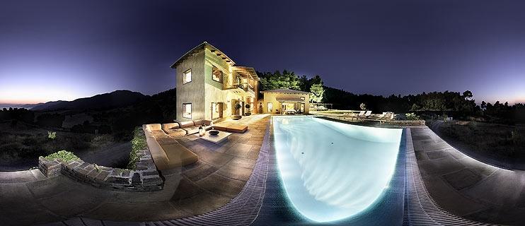 Villa at North Euvoia Panorama