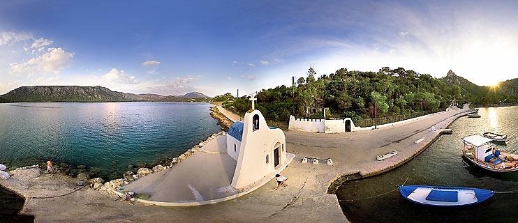 Heraion or Vouliagmeni lake Panorama